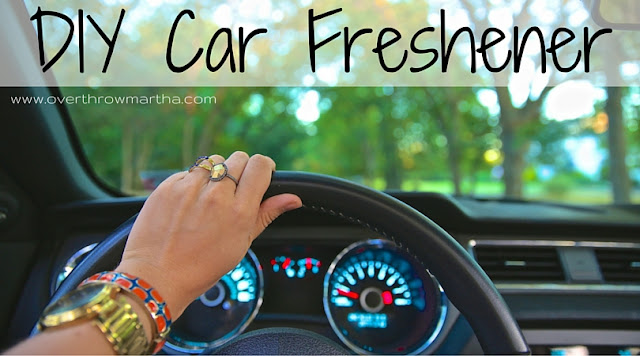 #DIY car freshener with #essential oils