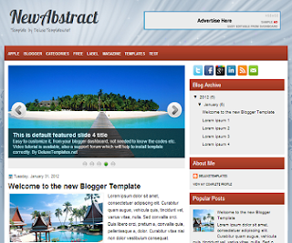 NewAbstract+Blogger+Template