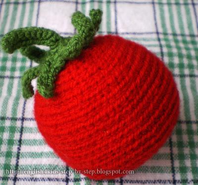 crochet tomato