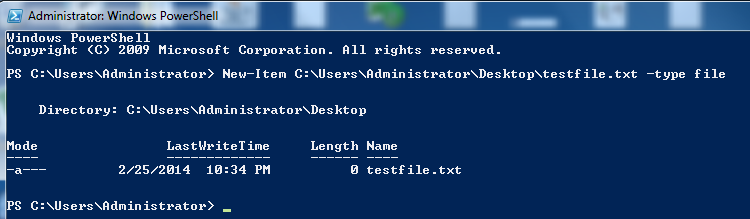 Create File in PowerShell Cmdlet