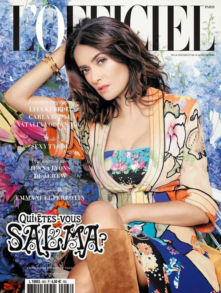 Actress: Salma Hayek - L'Officiel Paris March 2015