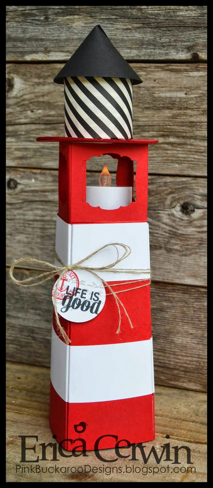 Pink buckaroo designs 3d paper lighthouse for 3d paper lighthouse template
