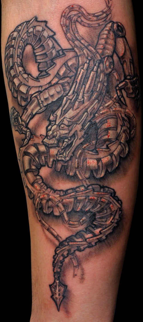 Biomechanical Tattoo Pictures