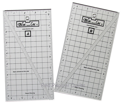 Bloc-Loc Half Rectangle Triangle Rulers