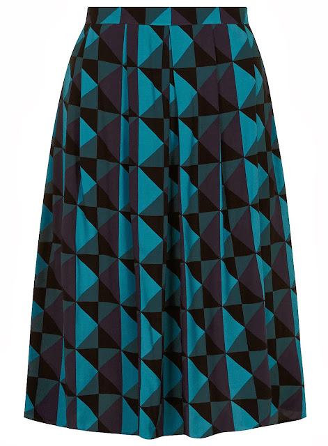 geometric skirt,