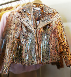 Wanda Nylon Turtle Print Clear jacket at Chalk Boutique.