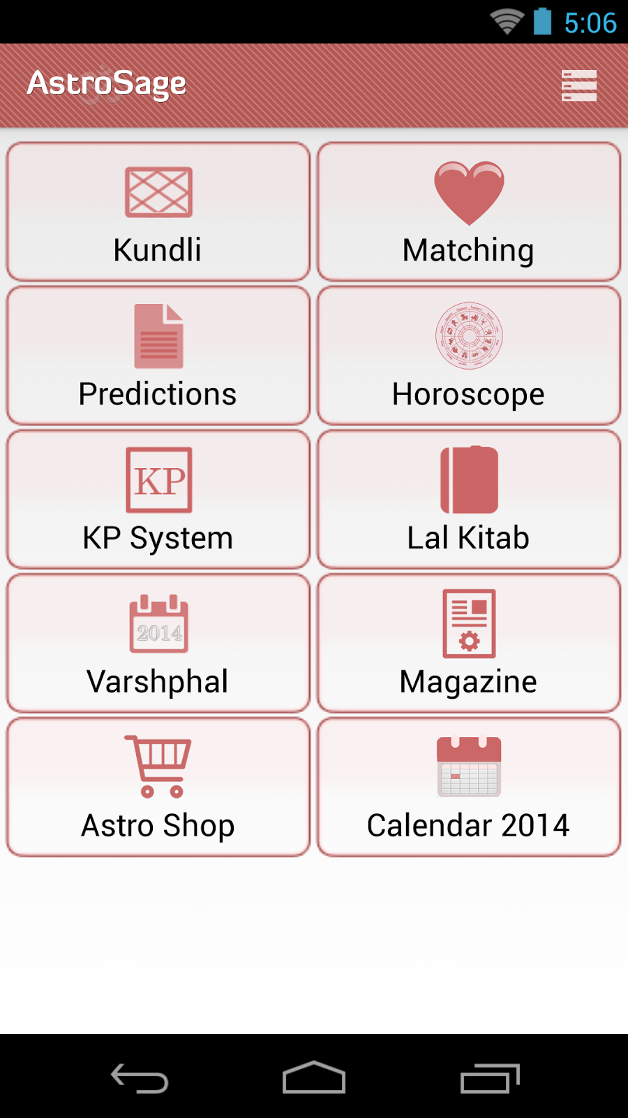 The main astrosage kundli app features were also there in the previous version of app but the updated version make the reach of these services easier
