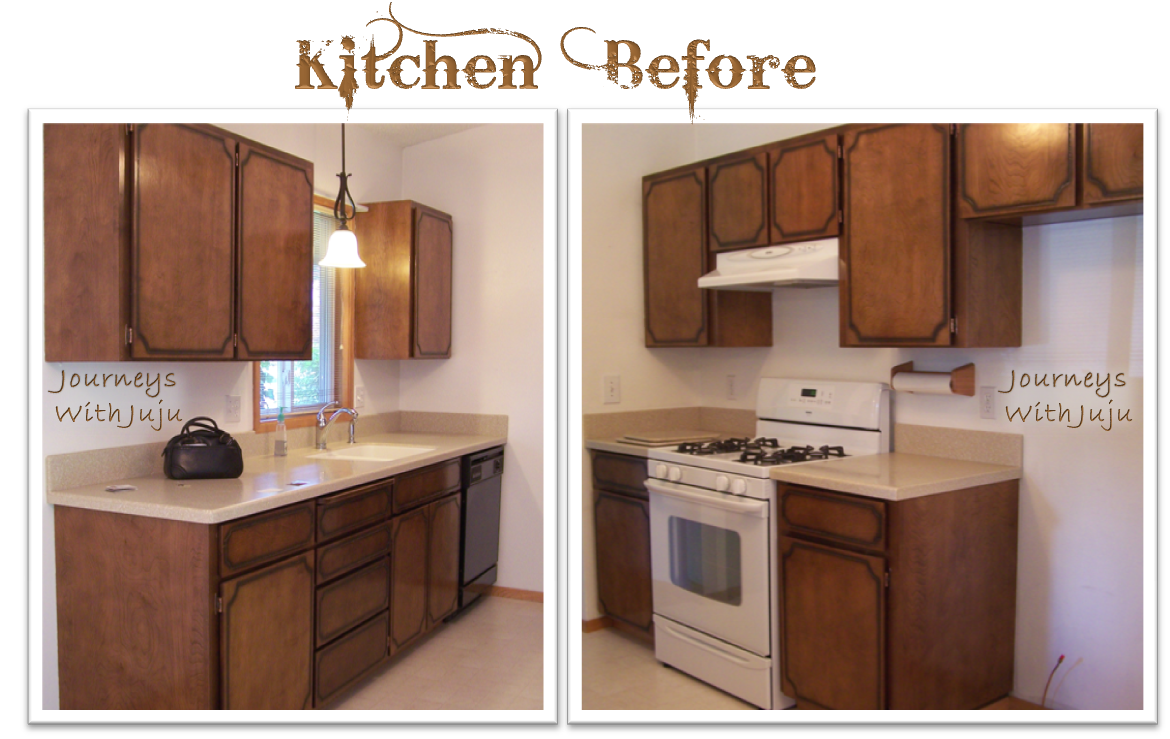 Journeys with juju kitchen cabinet makeover doors for Kitchen cabinets makeover