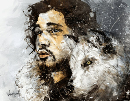Jon Snow - Game of Throne Art Print