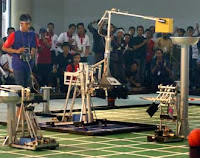 Robot JUMP-BE saat berlaga di KRI