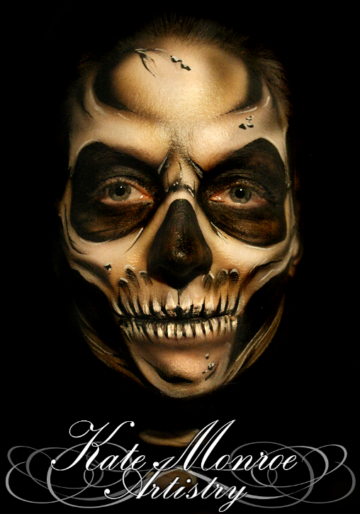 12-Skull-Face-Kate-Monroe-Face-and-Body-Painting-on-Human-Canvases-www-designstack-co