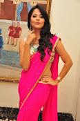 Anasuya dazzling saree photos-thumbnail-9