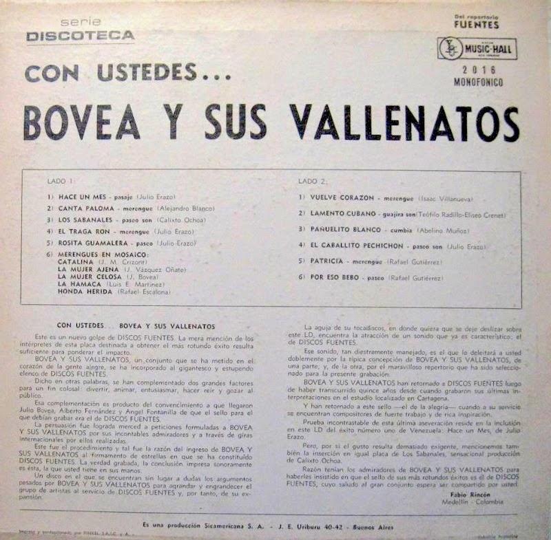 Bovea Y Sus Vallenatos - Porros Colombianos