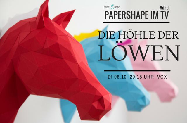 Tiertrophäe Papier DHDL