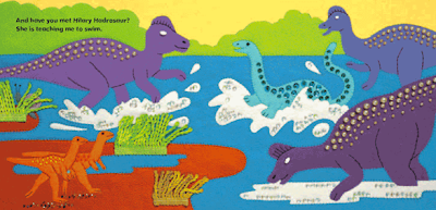 dinosaur paperback book illustrations
