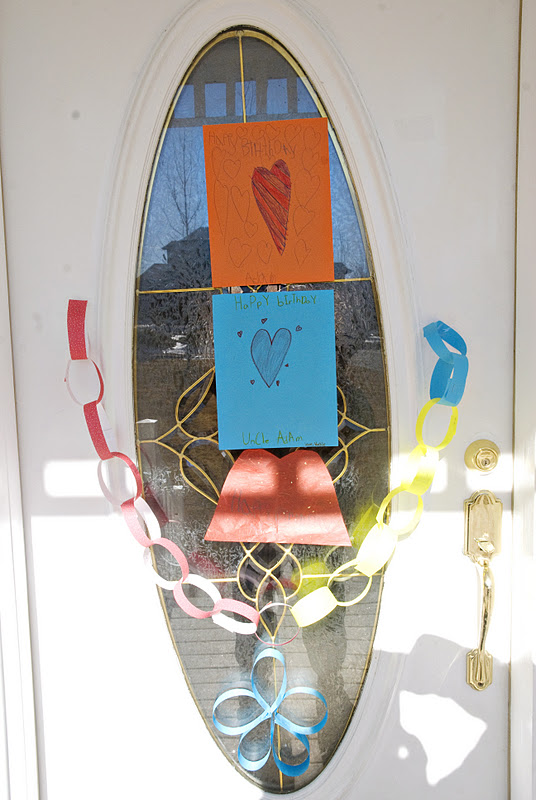 The Kids Decorated Front Door Of Grammy And Grandpas House So That When Adam Got There Were Some Birthday Decorations For Him