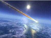 A meteor strikes