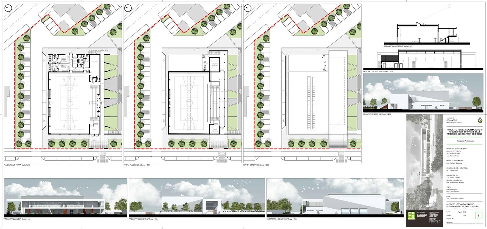 Codigoro in movimento le tavole del progetto cittadella dello sport da 2 3 milioni di euro - Tavola valdese progetti approvati 2015 ...