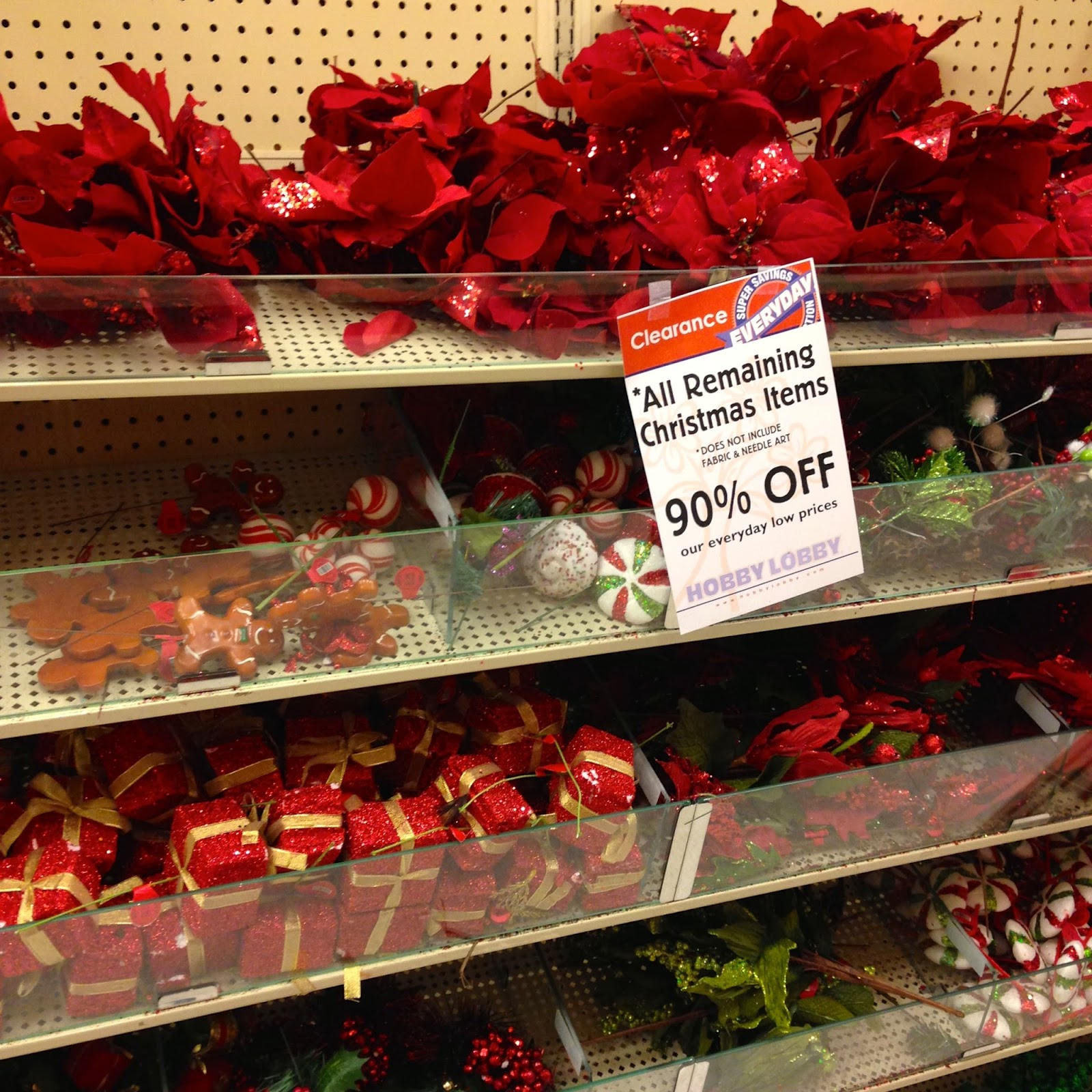 hobby lobby just dropped to 90 off all their christmas items here are some pics of the lincoln ne store