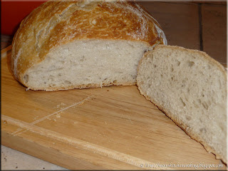 crusty bread cut