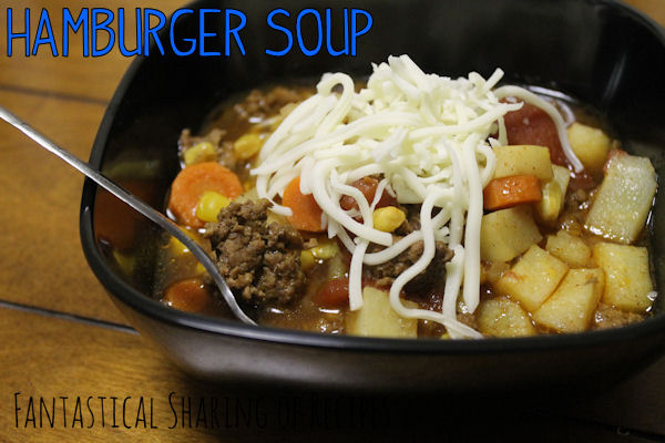 Hamburger Soup | A quick, simple soup for any weeknight