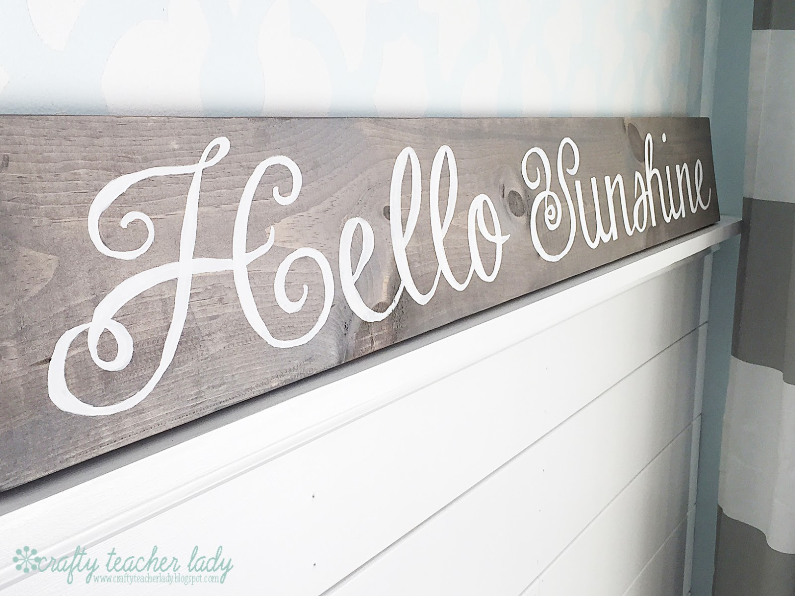 Crafty Teacher Lady: DIY Rustic Wood Sign Tutorial