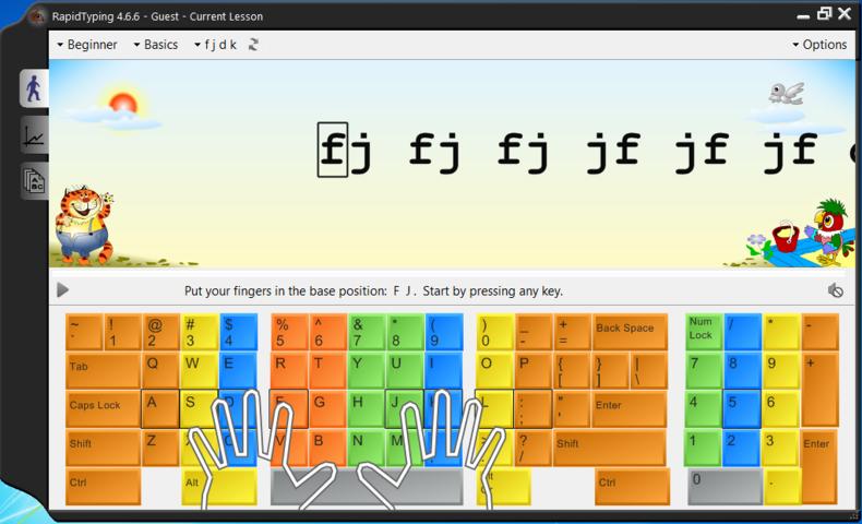 Belajar Mengetik Dengan Rapid Typing