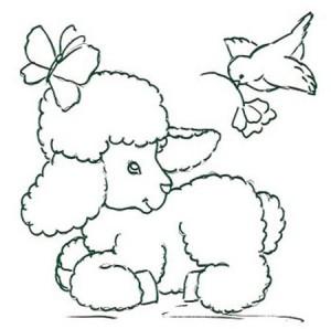 Desenhos e riscos de ovelhas e hipopótamos