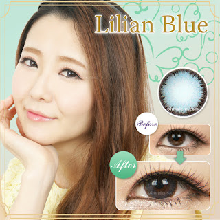Lilian Blue Contact Lenses at ohmylens.com