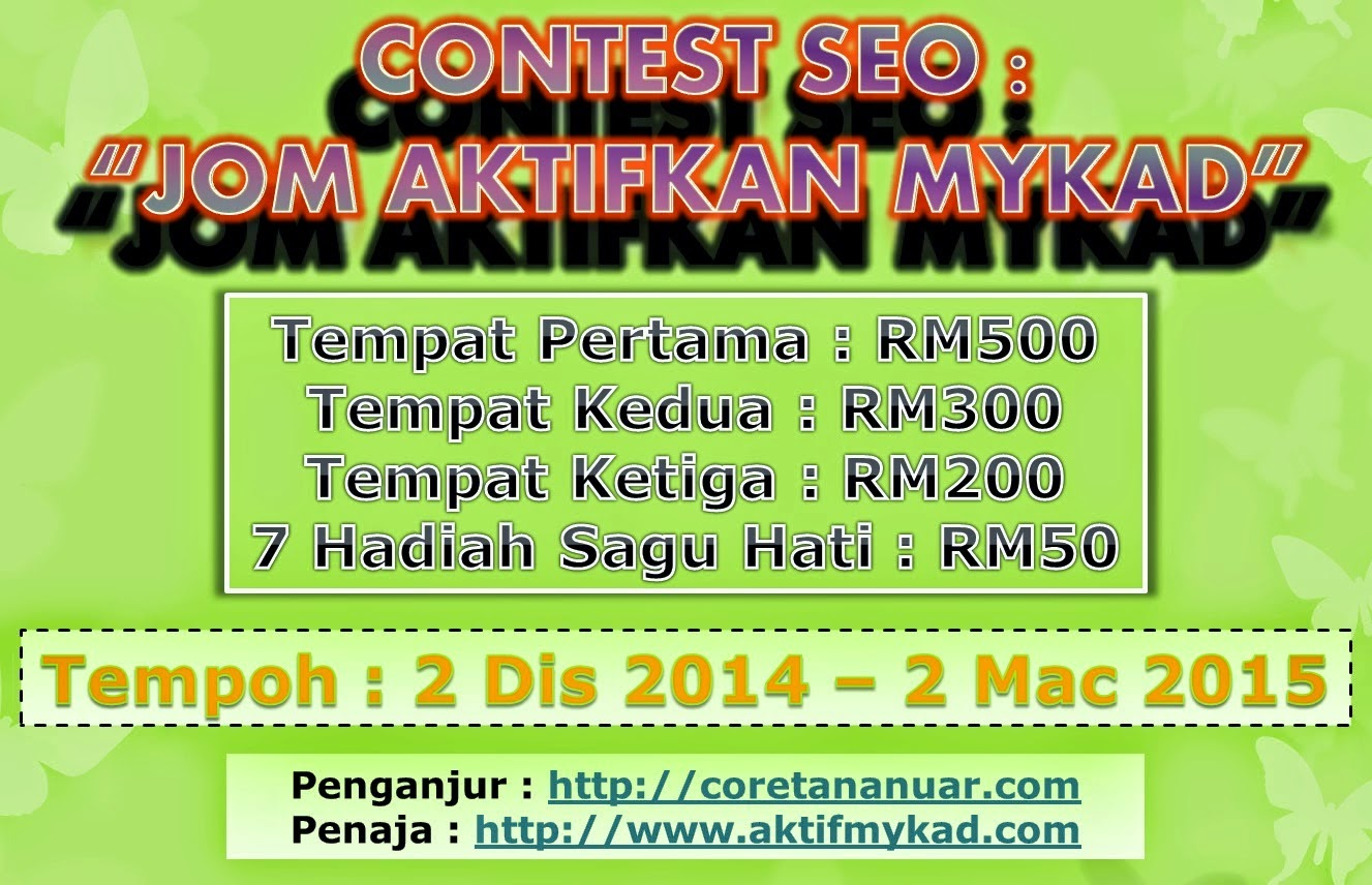 Jom Aktifkan Mykad, Contest SEO - Jom Aktifkan Mykad