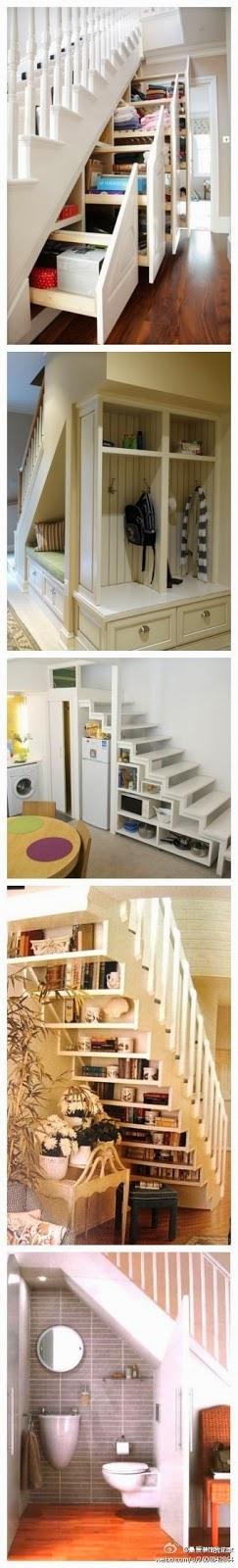 Aprovechamiento del espacio libre bajo las escaleras