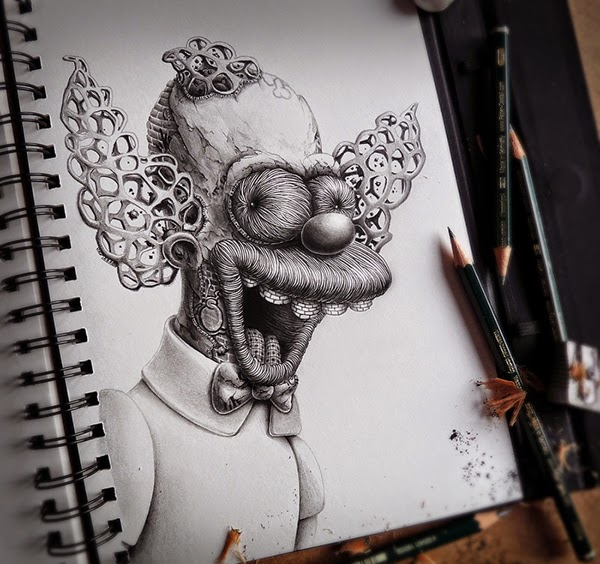 Distroy, por PEZ Artwork, Krusty el Payaso