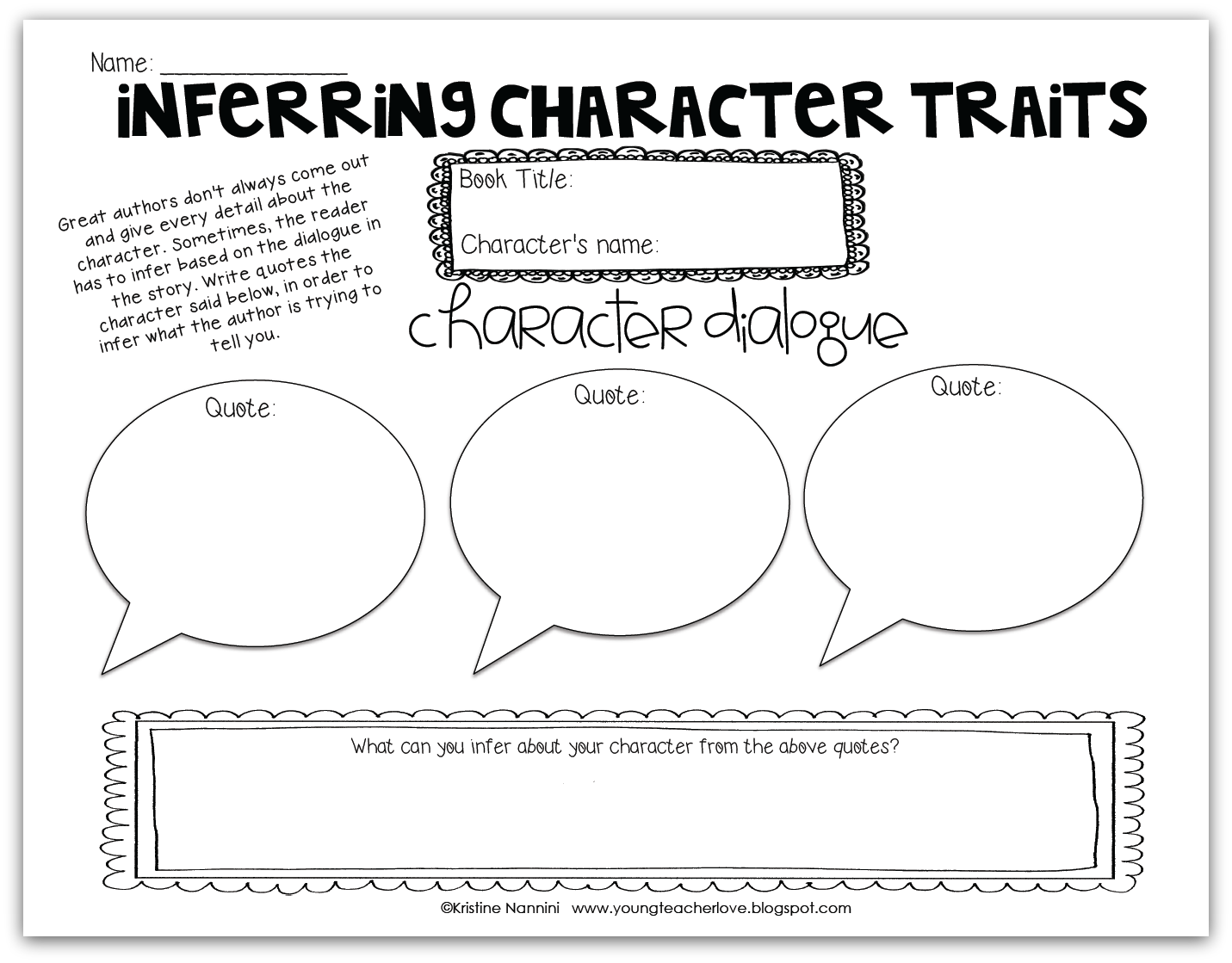 book report character analysis