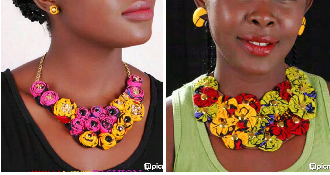 Tribalwest is a jewerly line based in Nigeria . They make necklaces,earrings, bangles, bracelets,  slippers with Ankara and other types of Fabrics. You can check them out here