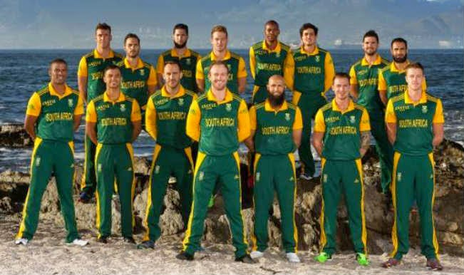 Team South Africa against India in ICC Cricket World Cup 2015