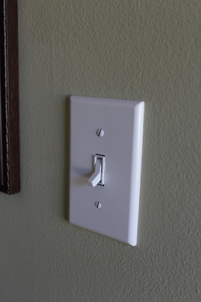 spray painted light switch