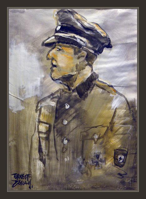 KAMINSKI-WAFFEN SS-WW2-RONA-ART-ARTE-PINTURA-PAINTINGS-PINTOR-ERNEST DESCALS-