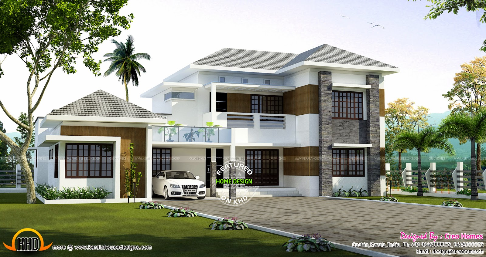 2809 square feet modern villa kerala home design and