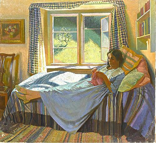 british paintings gerald gardiner the artists wife