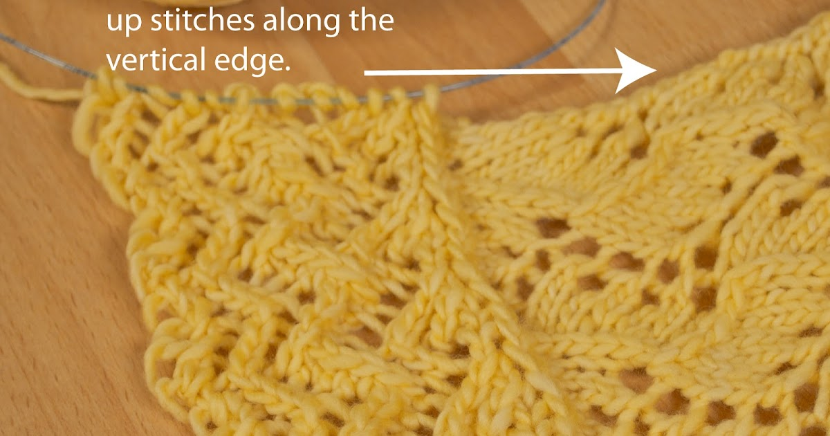 Left Handed Knitting Picking Up Stitches : AndreaKnits: Attached Lace Edging Tutorial Part 2