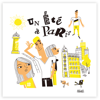 Illustration Alex Formika un été à Paris