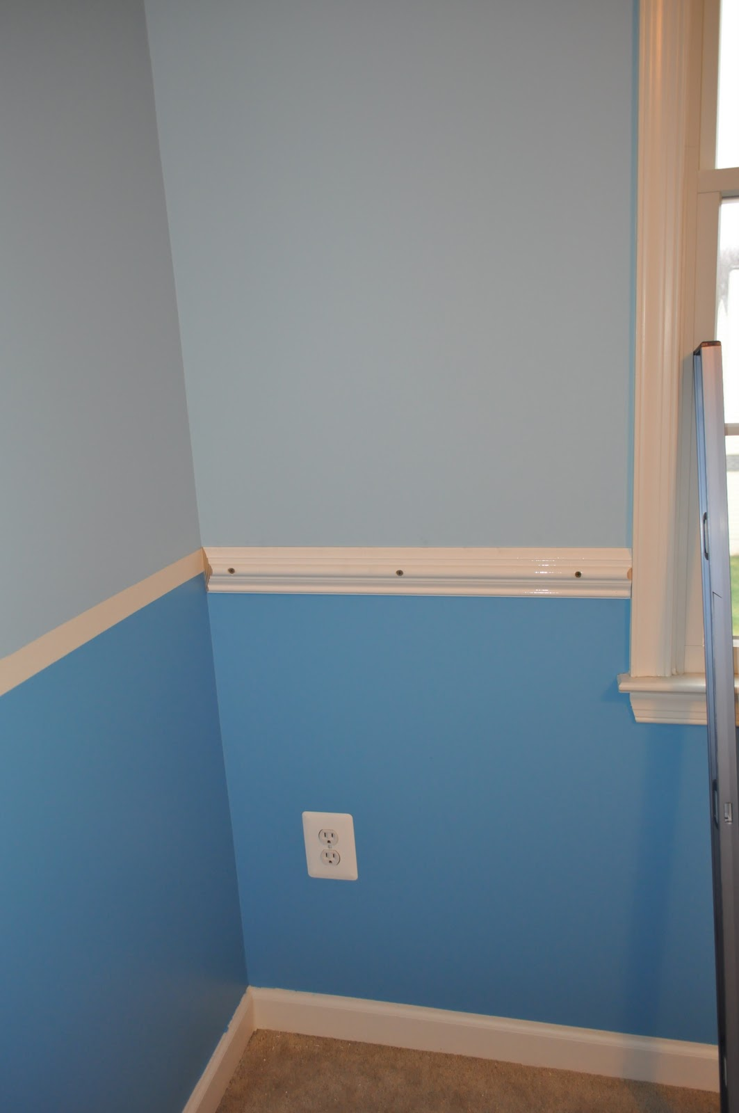 chair rail which is where we are now in the big boy bedroom process