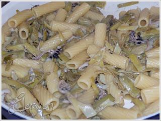 pasta con carciofi e seppioline