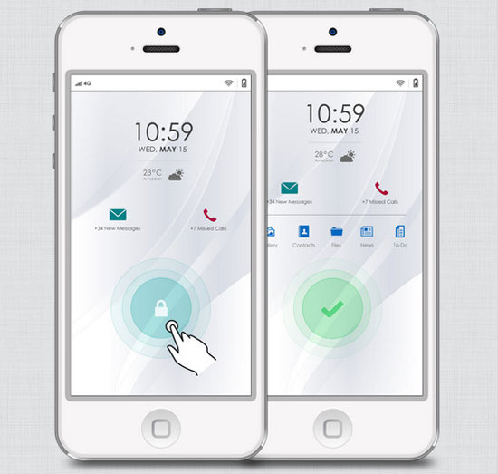 iOS 7 Just a concept by Peyman Eskandari