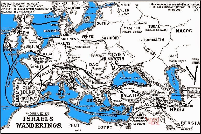 Tribes Of Israel Map on