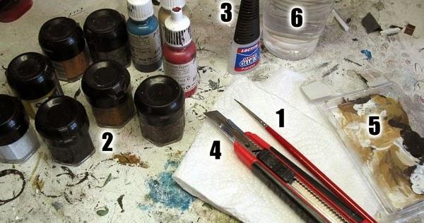 minisocles le blog tuto le mat riel indispensable pour peindre les figurines. Black Bedroom Furniture Sets. Home Design Ideas