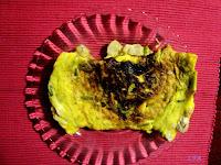 Tortilla de esparragos y sesos