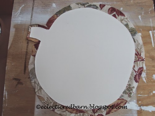 Eclectic Red Barn: Gluing cardboard to fabric