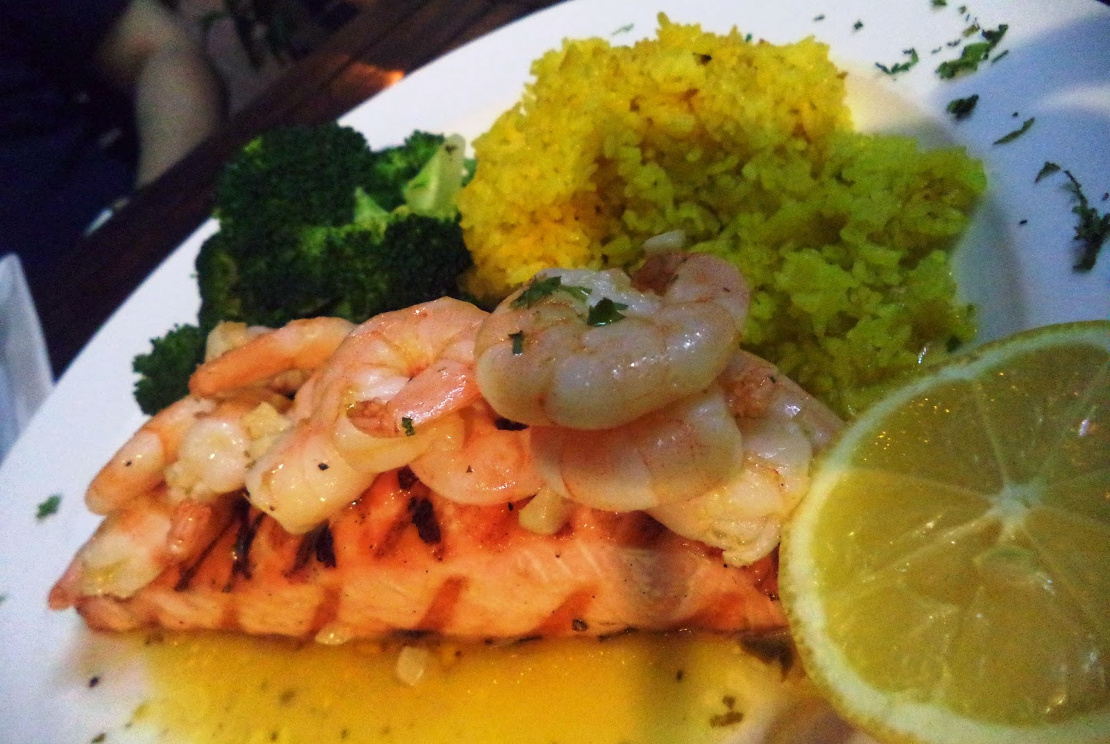 Salmon with Lemon Pesto Shrimp