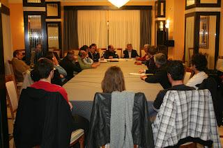 Reunion de miembros de Gecobesa presidida por Francisco Montero y Aleberto Segade